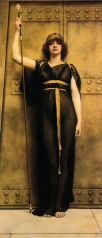 'A Priestess' by John William Godward (1894)