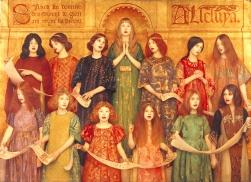 'Alleluia' by Thomas Cooper Gotch (1896)