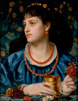 'Isolda With the Love Potion' by Frederick Sandys (1870)