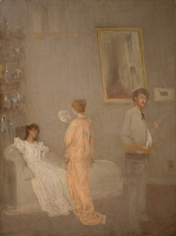 'The Artist in His Studio' by James McNeill Whistler