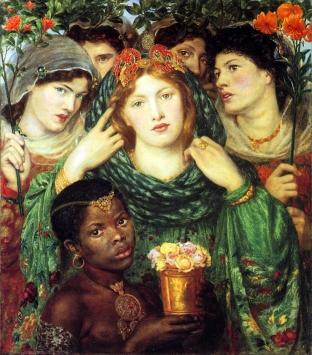 'The Beloved' by Dante Gabriel Rosetti (1865-66)