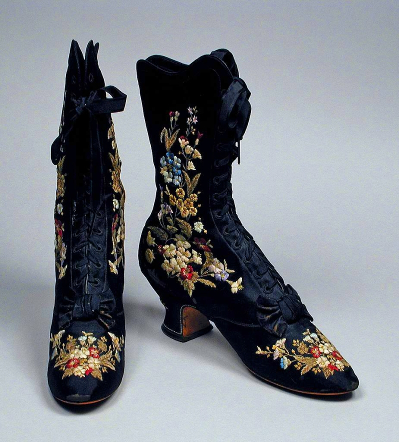 Women's Embroidered Boots, 1885
