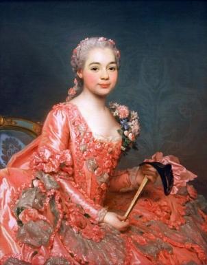 'Baroness de Neubourg-Cromiere' by Alexander Roslin (1756)