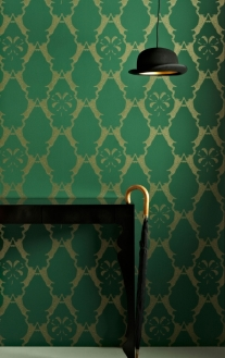 'Boxing Hares' Wallpaper by Barneby Gates