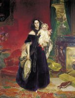 'Mariya Arkadyevna Bek with her Daughter' by Karl Briullov