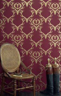 'Deer Damask' Wallpaper by Barneby Gates