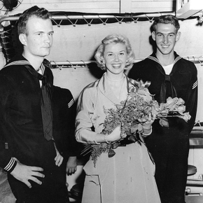 ★ Doris Day Visits the USS Juneau, c.1952
