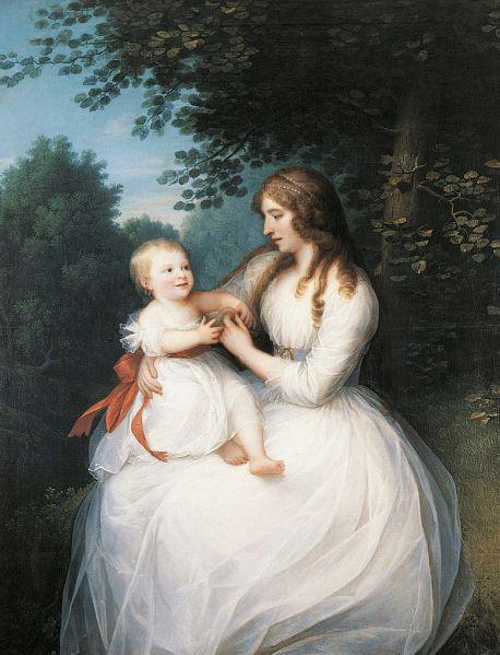'Friederike Brun with her daughter Charlotte' by Erik Pauelsen