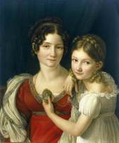 'Mother and Her Daughter' by Henri-Francois Riesener