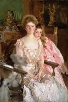 'Mrs. Fiske Warren (Gretchen Osgood) and Her Daughter Rachel' by John Singer Sargent