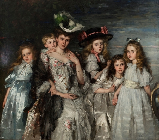 Mrs A.G.M. van Ogtrop-Hanlo and Children by Schwartze