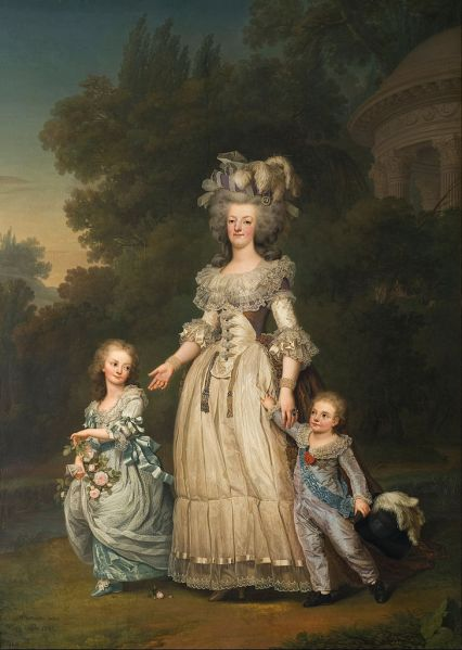 'Marie Antoinette and Her Children Walking in The Park of Trianon' by Adolf Wertmuller