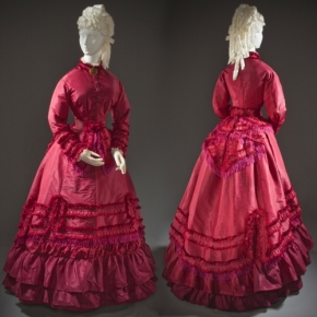 ★ Taffeta Promenade Dress, c.1870