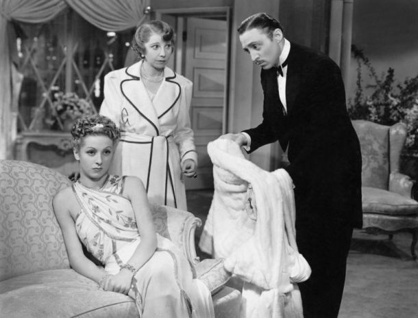 Danielle Darrieux, Helen Broderick & Mischa Auer in 'The Rage of Paris' (1938)