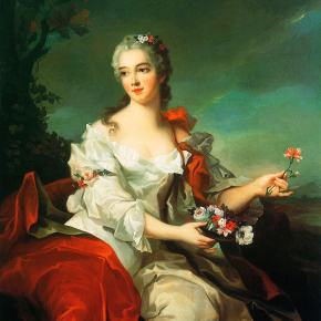 ★ 'Portrait of a Lady as Flora' by Nattier