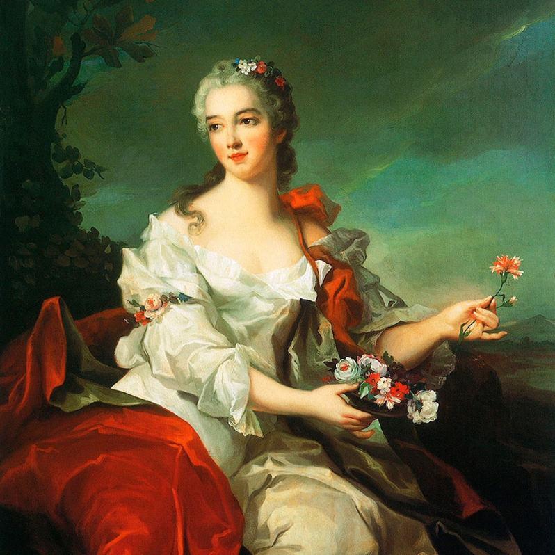 'Portrait of a Lady as Flora' by Jean-Marc Nattier