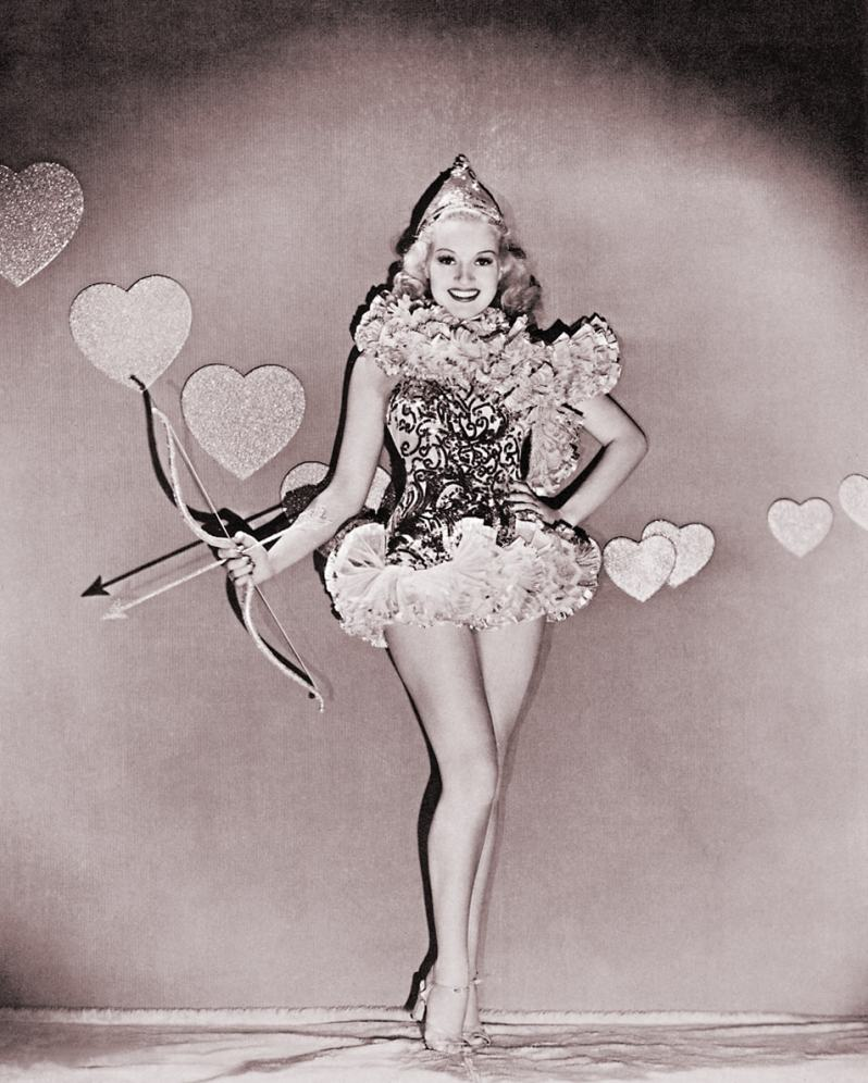 Betty Grable as Cupid for Valentine's Day 1937