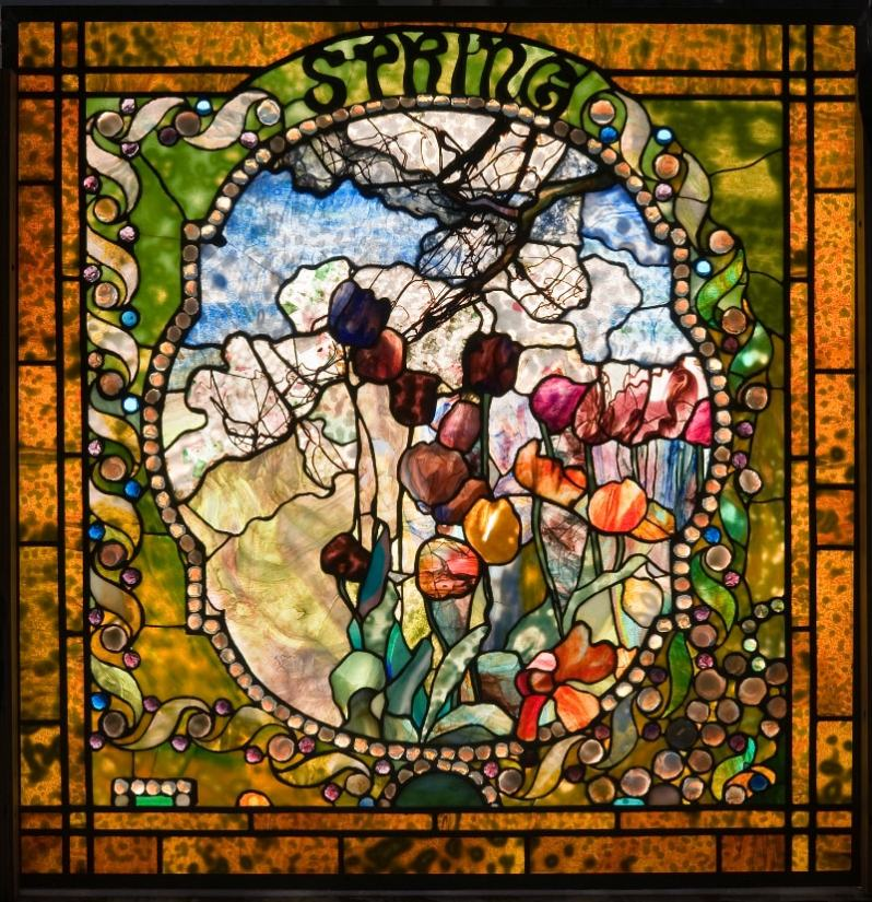 'Spring' from 'The Four Seasons' by Louis Comfort Tiffany (1900)