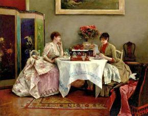 ★ 'An Interesting Letter' by Julius LeBlanc Stewart(1890)