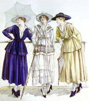 ★ Gabrielle Chanel Fashion Plate(1917)