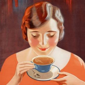 ★ Ad for Van Nelle's Afternoon Tea (1927)
