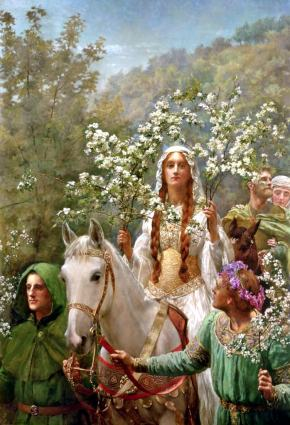 ★ 'Queen Guinevere's Maying' by John Collier(1900)
